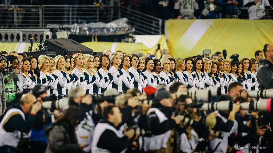 The Seattle Sea Gals at the Superbowl