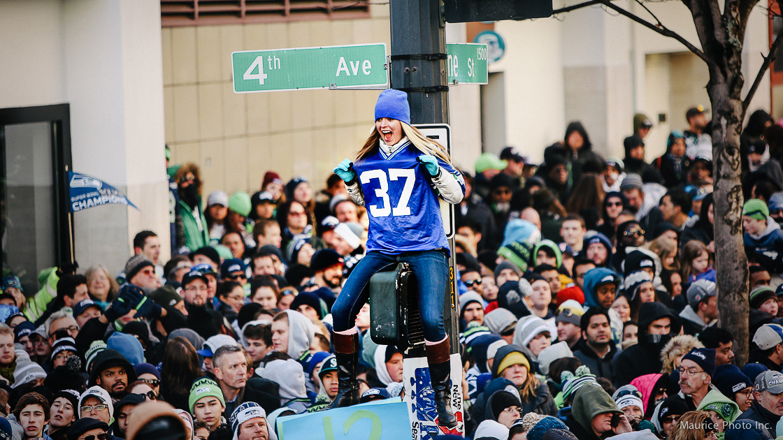 Seahawks fans at Victory Parade